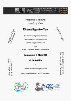 gsg düsseldorf - ehemalige - abitreffen abi 1990 in hitzenlinde, Einladung